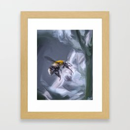 bumblebee mixed media artwork Framed Art Print
