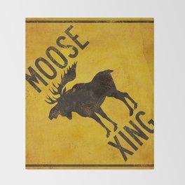 Moose Crossing XING Throw Blanket