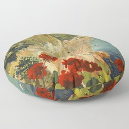 Vintage Travel Ad Amalfi Italy Floor Pillow