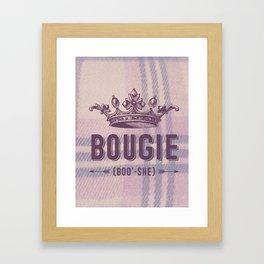 Bougie Framed Art Print