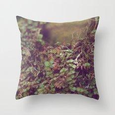 In Her Garden Throw Pillow