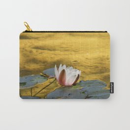 Water Lily In A Sea Of Gold Carry-All Pouch