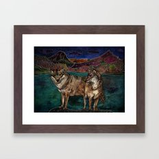 Wolf Love Framed Art Print