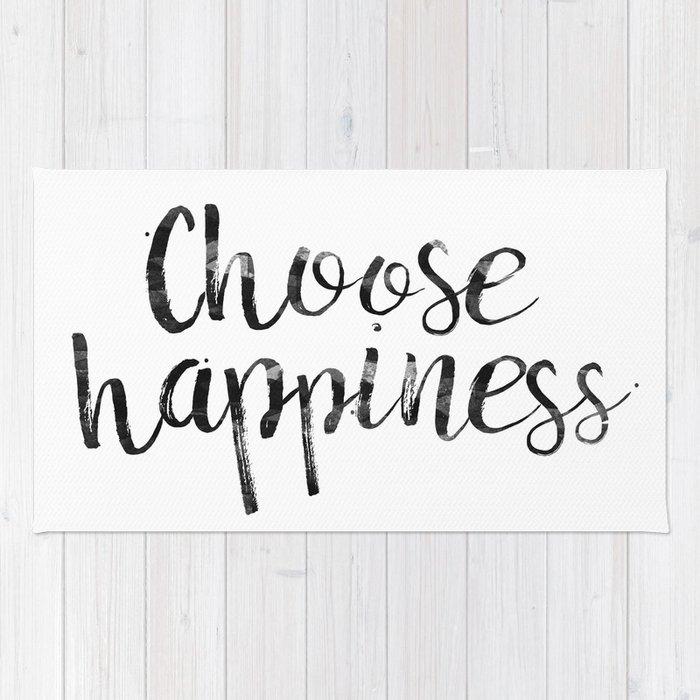 Choose Happiness Rug