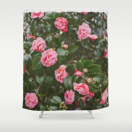 Pink Camellias Shower Curtain