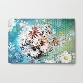 Pop art floral Metal Print
