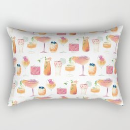 Cocktails Pattern - Colorful summer drinks - Mixology  Rectangular Pillow