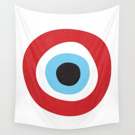 Red Evil Eye Symbol Wall Tapestry