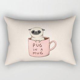 Pug in a Mug Rectangular Pillow