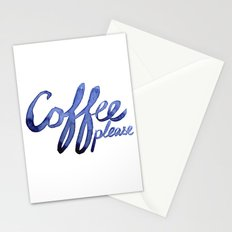 Coffee Please Drinks Caffeine Typography Coffee Lovers Stationery Cards