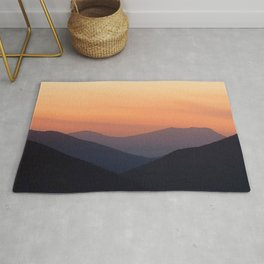 Watercolor Sunset, Estes Park 08 Rug