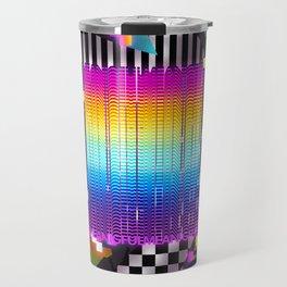 Retro Glowing Poster Travel Mug