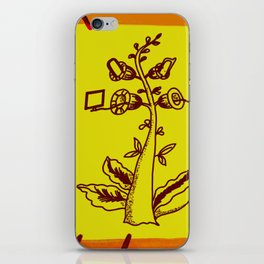 tree with a computer , telephone and other device . https://society6.com/vickonskey/s?q=popular+prin iPhone Skin