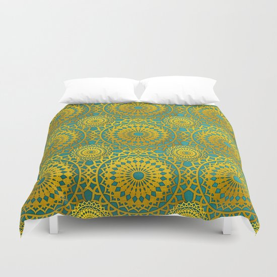 Golden Mandala 2 Duvet Cover