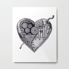 Mechanical heart Metal Print