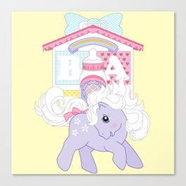 g1 my little pony baby blossom at lullabye nursery Canvas Print