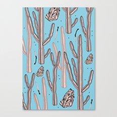 Blue desert secrets Canvas Print