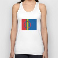 scandinavian Tank Tops featuring Sami people ethnic scandinavian Flag by tony tudor