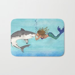 The Shark and the Mermaid Bath Mat