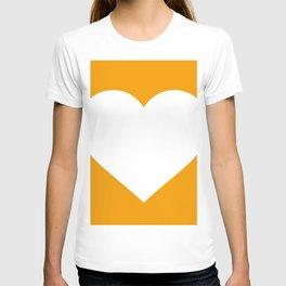 Heart (White & Orange) T-shirt