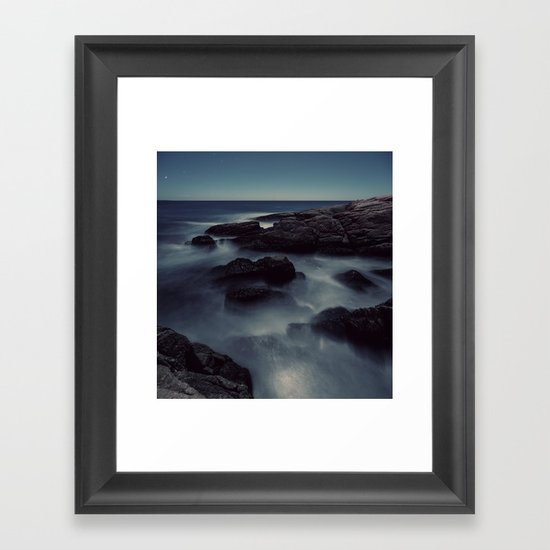 Moon Shadows Framed Art Print