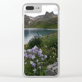 Colorado Columbine at Ice Lake Clear iPhone Case