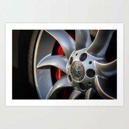 Mclaren SLR Wheel Art Print