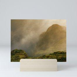 Dawn in Fogo crater Mini Art Print