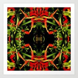 Chilli Pepper Paintography Pattern Art Print