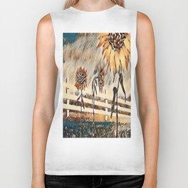 """Sunflower Trio"" Biker Tank"