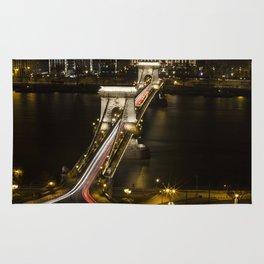 Budapest Chain Bridge Rug