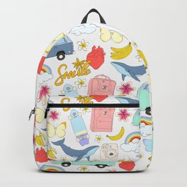vsco girl - sticker like pattern Backpack