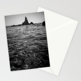 sea rock monolith Stationery Cards