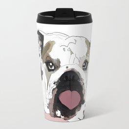 English Bulldog Love Travel Mug