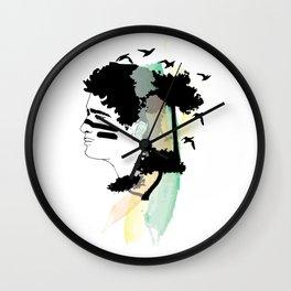 Lost Boy Watercolor Wall Clock