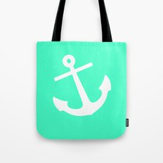 Mint Anchor Tote Bag
