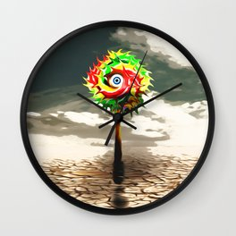 DESERT landscape with lolli pop candy Wall Clock