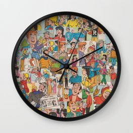 Archie Comics Collage #2 Wall Clock