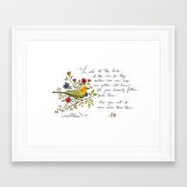 Matthew 6:26 Framed Art Print