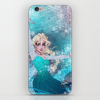 frozen elsa iPhone & iPod Skins featuring Frozen Elsa by Teo Hoble