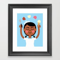 One Scoop or Two? Framed Art Print