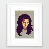 bjork Framed Art Prints featuring Bjork by mr. michael temple
