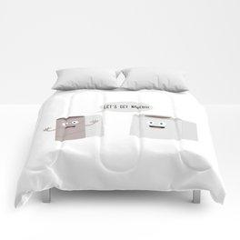 Toilet roll tissue cartoon Comforters