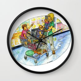 The Joy of Parenting - Shopping Wall Clock