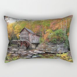 Photos USA Trees Babcock State Park Nature Parks stone Watermill park Stones water mill Rectangular Pillow