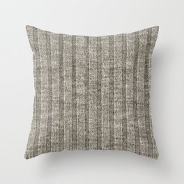 Soft Brown Jersey Knit Pattern Throw Pillow