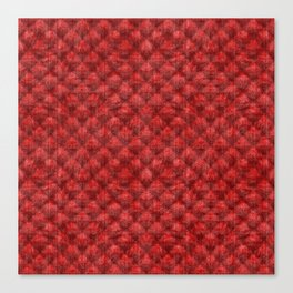 Quilted Bright Red Velvety Design Canvas Print