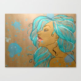 turquoise lady Canvas Print