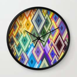 geometric colour Wall Clock