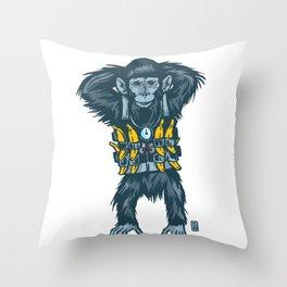 Banana Bomber Throw Pillow